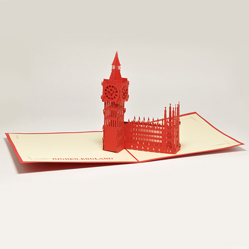 Купить 3D POP-UP открытка - Биг Бен - OBIDOBI.RU