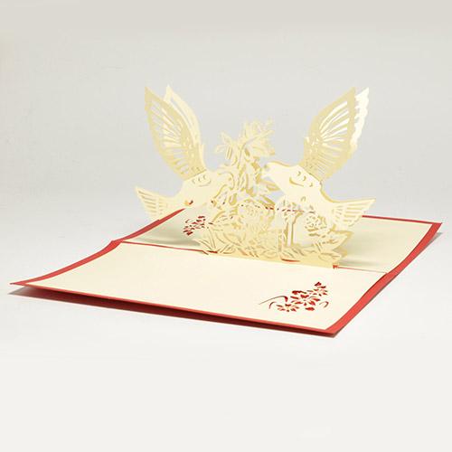 Цветы объемные внутри открытки